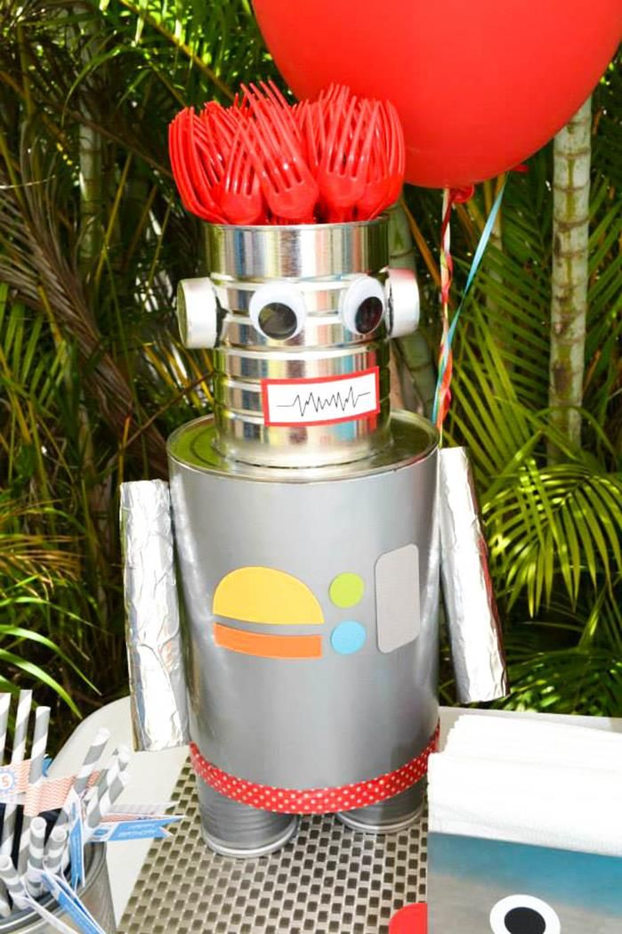 Robot Birthday Party Ideas Supplies Idea Cake Planning Decorations