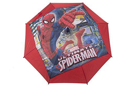 Paraguas niño largo PERLETTI MARVEL SPIDERMAN rojo LOGATO automático Q962 - http://comprarparaguas.com/baratos/marvel/paraguas-nino-largo-perletti-marvel-spiderman-rojo-logato-automatico-q962/
