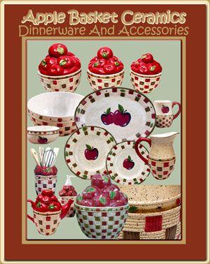 Apple Kitchen Stuff | Apple Basket Collection   Apple Themed Dinnerware    Table Linens