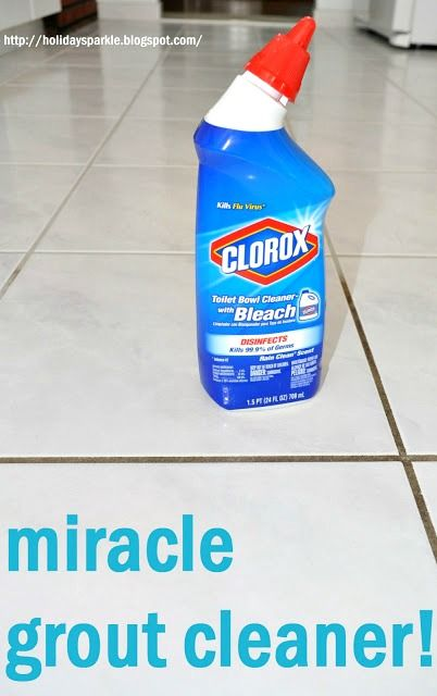 The BEST Grout Cleaner  ~ So are you ready to FINALLY get your tile floors and grout lines cleaned?... Use Clorox toilet cleaner with bleach to clean grout.... It worked like a charm!!