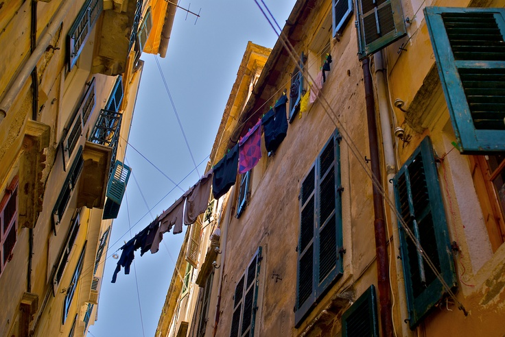 Alley in the old town of Corfu.