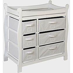 Badger Basket White 6-basket Changing Table | Overstock.com Shopping - Big Discounts on Badger Basket Changing Tables