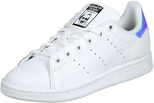 adidas Stan Smith J Blanc Metallic Argent Blanc
