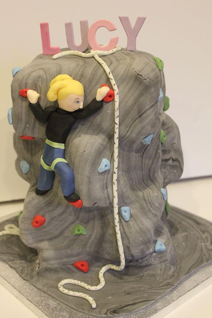 Climbing wall rock climbing cake                                                                                                                                                                                 More