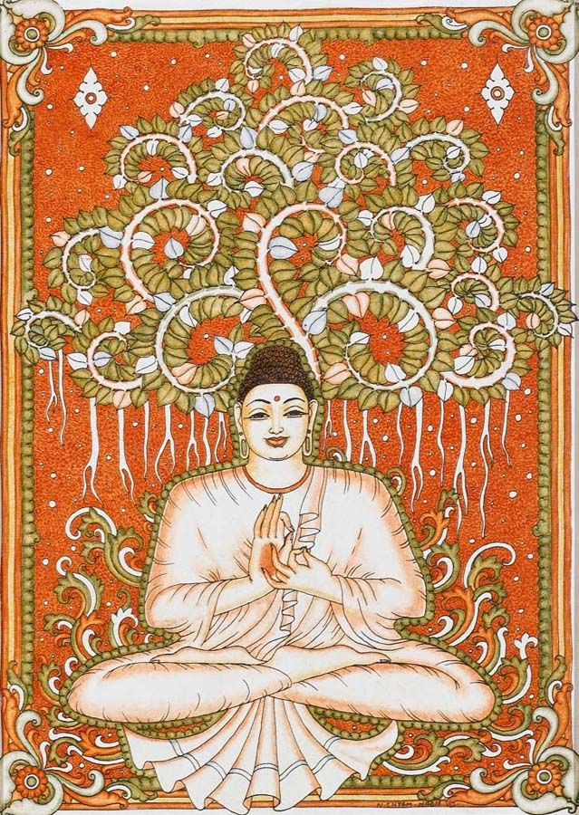 236 best budha hindu images on pinterest hinduism for Buddha mural art