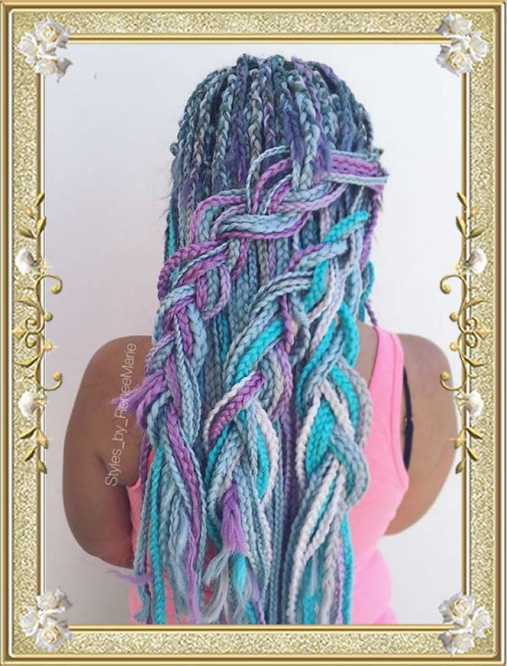 Hottest Photos of Colorful Braided Hairstyles for …