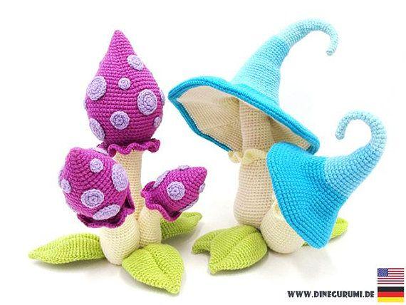 Toadstool Amigurumi Pattern   Crochet mushroom, Crochet plant ...   428x570