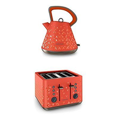 Morphy Richards 108106 Prism Kettle and 248106 Prism Toaster - Orange: Amazon.co.uk: Kitchen & Home