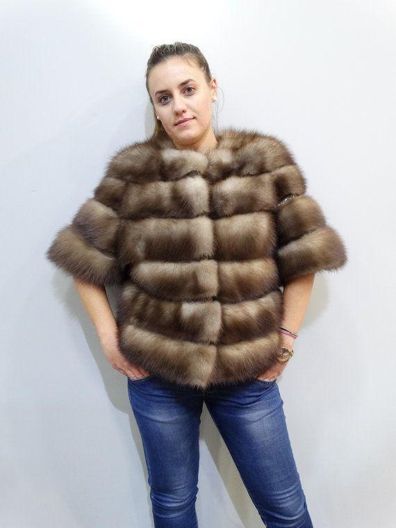 Real Marten Fur Jacket with leatherreal furfur by FilimegasFurs