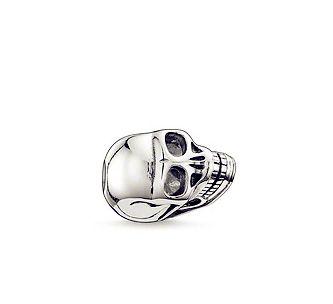 Thomas Sabo Bead Small Skull Bead Karma Beads  From Crystaljewelryuk.com