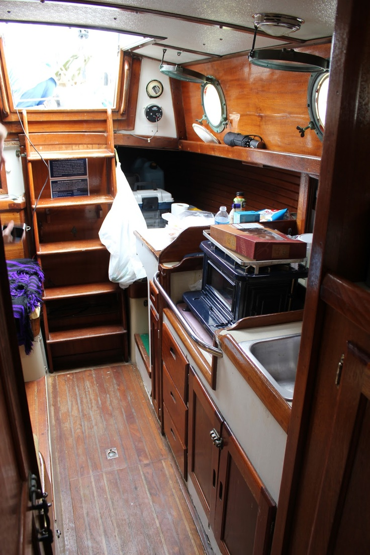 96 best boats down below images on pinterest sailboat interior sailing ships and boat interior for How to restore a boat interior