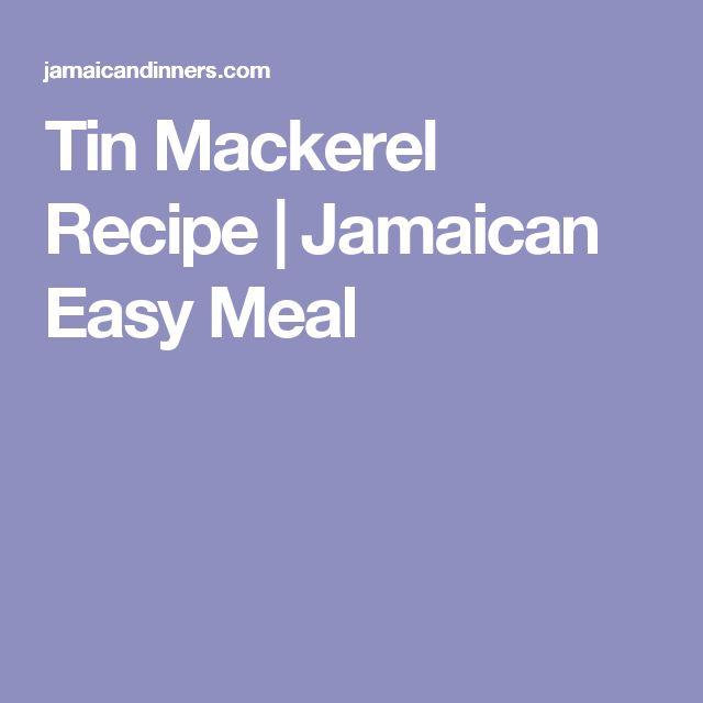 Tin Mackerel Recipe | Jamaican Easy Meal
