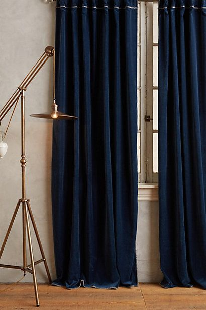 Hand-Embroidered Charente Curtain #anthropologie