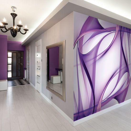 Flowing purple brush strokes
