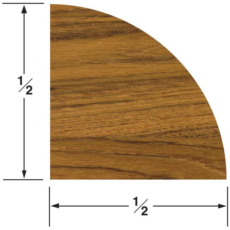 Whitecap Teak Quarter Round Molding Large - 5' [60850]