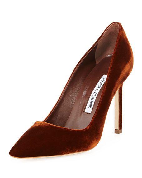 0324d6906d50 Rust velvet heels | Shoe Love in 2019 | Heels, Pointed toe pumps, Pointed  toe heels
