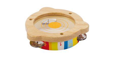 Primo tamburello http://www.borgione.it/Educazione-musicale/Strumenti-musicali-per-i-piu-piccoli-in-legno/Primo-tamburello/ca_2502.html