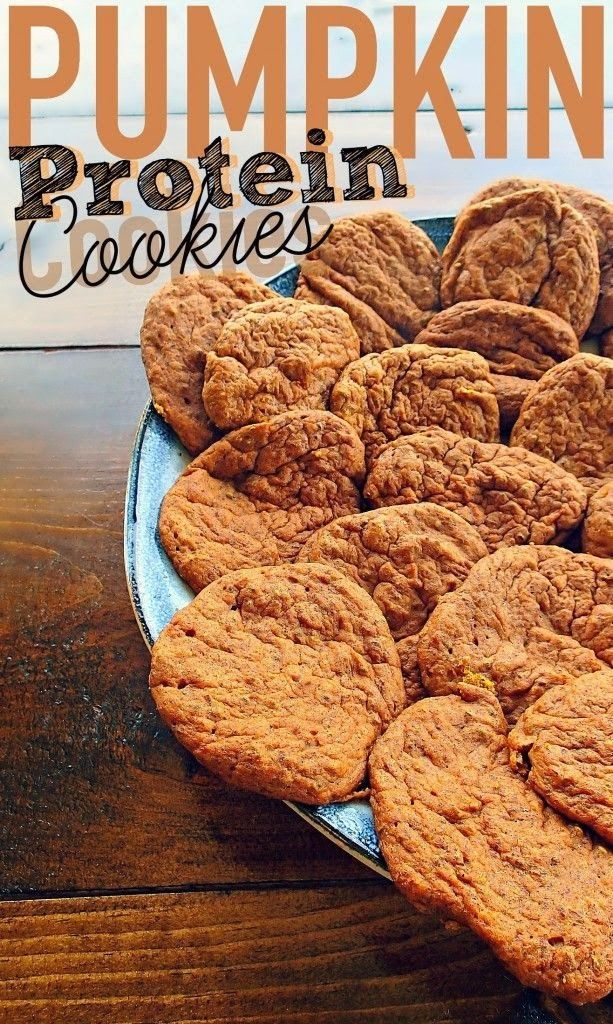 Pumpkin Protein CookiesMakes 8 cookies – about 32 calories each 260 calories for the whole batch...