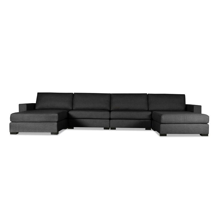 South Cone Home Tribeca Modular Sectional Sofa (Charcoal), Black