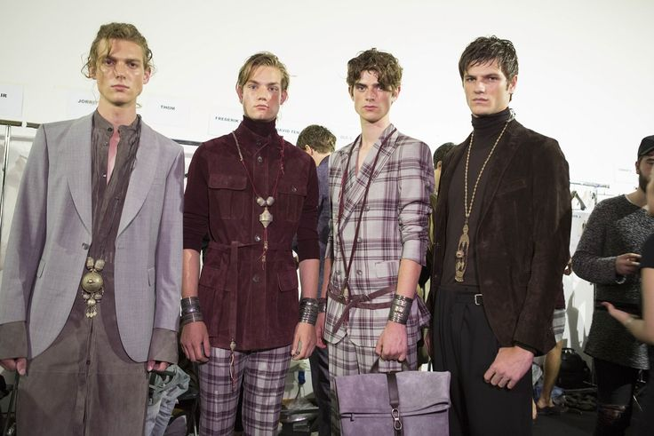 SS2017 DAKS MENS MILAN COLLECTION BACKSTAGE PHOTO
