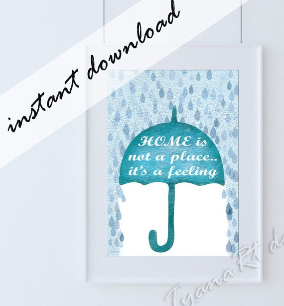 Home quotes print home quotes poster Umbrella print by TyanaRt