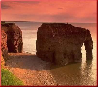 Elephant Rock, Prince Edward Island, P.E.I.  Honeymoon '98