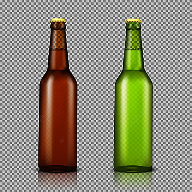 Vector Realistic Illustration Set Of Transparent Glass Bottles W Beer Soda Bottle Png And Vector With Transparent Background For Free Download Glass Bottles Bottle Free Vector Art