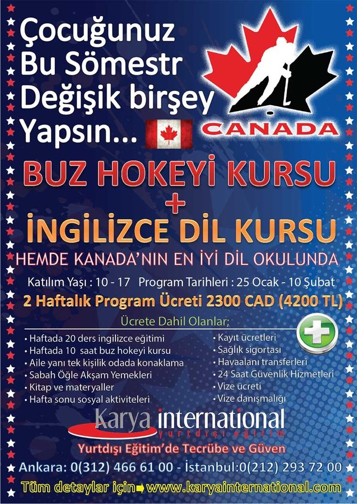 7-17 Yaş İçin Kanada'da Buz Hokeyi ve İngilizce Kursu  http://www.karyainternational.com/7-17-yas-icin-kanadada-buz-hokeyi-ve-ingilizce-kursu-24.haber