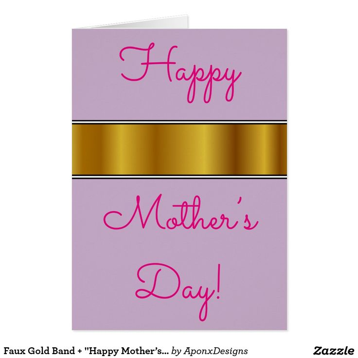 "Faux Gold Band + ""Happy Mother's Day!"" Card"
