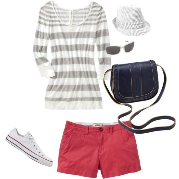 Old Navy, created by vee-ssbl on Polyvore: Sweet, Purse, Colored Shorts, Has