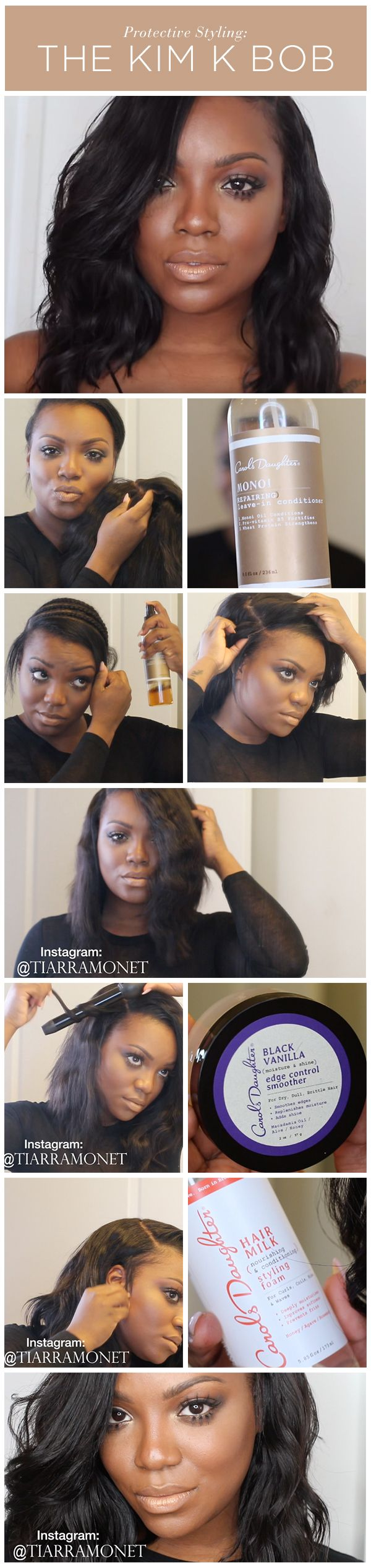 The Kim K Bob | The Easiest Protective Style for Natural Hair