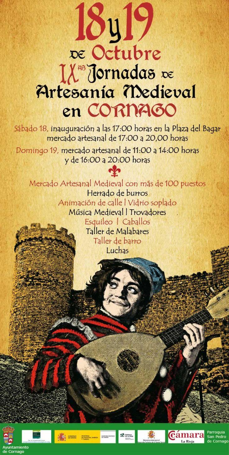 18  y 19 de Octubre - IX Jornadas de artesania medieval en Cornago, La Rioja http://mercadillosmedievales.com/ultimas-noticias/2641-18-de-octubre-y-19-de-octubre-ix-jornadas-de-artesania-medieval-en-cornago-la-rioja @lariojaturismo #cornago