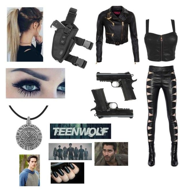 """(Teen Wolf) Derek Hale's hunter sister & Stiles Stilinski's love interest"" by pixi5401 on Polyvore featuring Yves Saint Laurent, Versus and Carolina Glamour Collection"