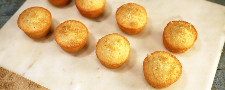 Lemon Thyme Financiers Recipe from Carla Hall (she took these along to the Red Carpet)