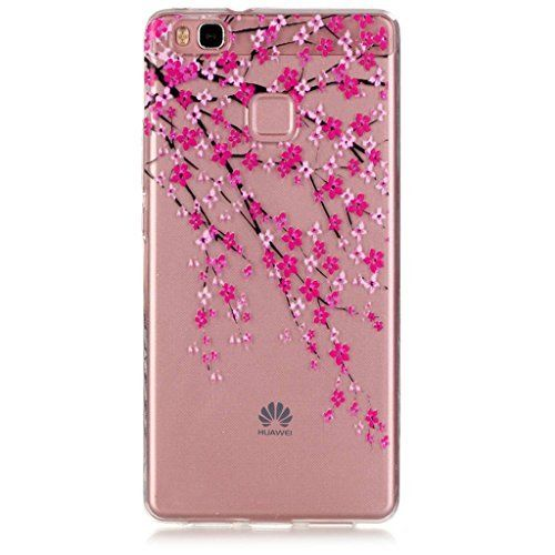 """Huawei P9 lite 5.2"""" Transparent Case Soft TPU Silicone cases Protective Cover Plum Flower, http://www.amazon.com/dp/B01HD80NN0/ref=cm_sw_r_pi_awdm_x_y6Kfyb23PPYRP"""