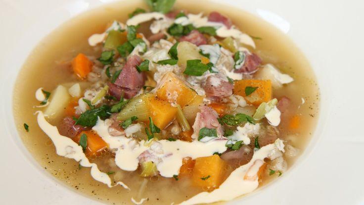 Suppe med knokekjøtt