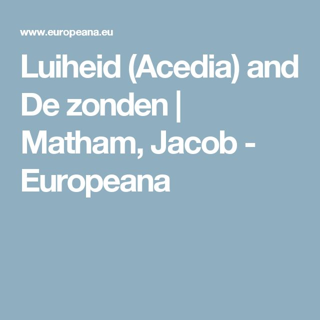 Luiheid (Acedia) and De zonden | Matham, Jacob - Europeana