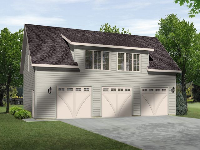 1000 images about garage plans with lofts on pinterest for 3 car garage with loft apartment