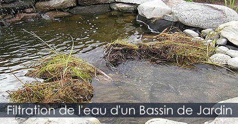 Filtre et filtreur pour bassin d'eau - Filtrer l'eau d'un bassin - Filtration naturelle ou mécanique d'un jardin d'eau. Instructions: http://www.jardinage-quebec.com/guide/construire-un-jardin-eau/bassin-de-jardin-8.html
