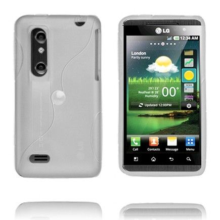 Storm (Hvit Gjennomsiktig) LG Optimus 3D Deksel
