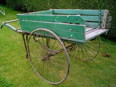 victorian hand barrow cart