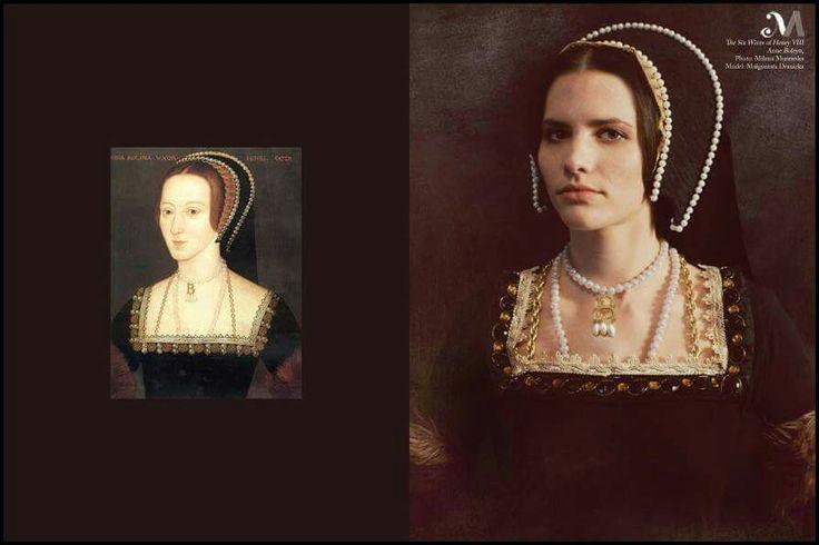 The six wives of King Henry VIII back to life : Anne Boleyn.Photography: Milena Murawska, model: Małgorzata Nosewicz