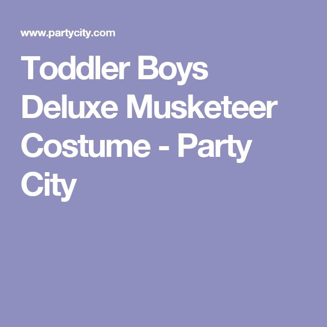Toddler Boys Deluxe Musketeer Costume - Party City