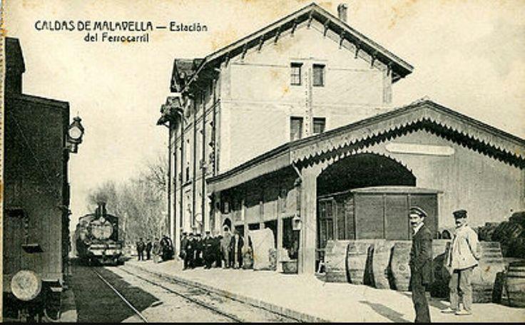 Estación de ferrocarril Caldas de Maladella. Siglo XIX