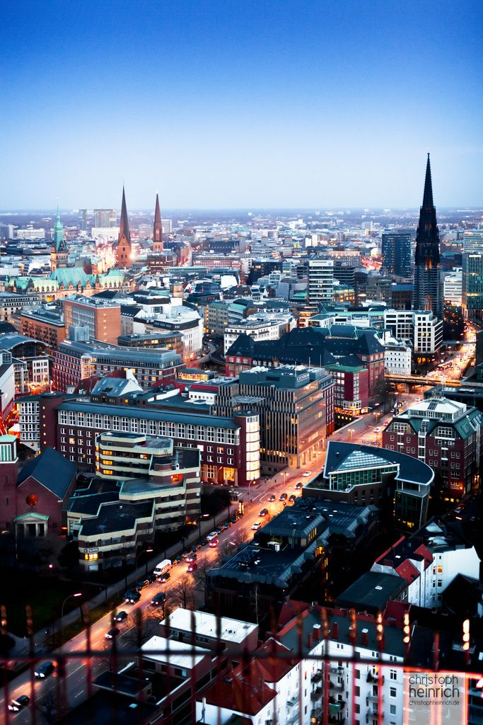 View over Hamburg