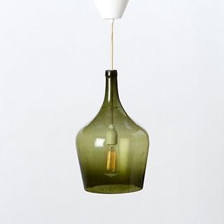 Green Demijohn Pendant Lamp