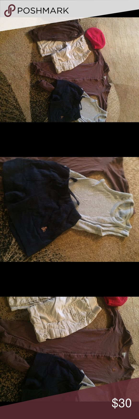 All baby boys gap Brennan bear lot 6-12 m EUC This is all gap Brennan bear items except for the tan pants they are just gap baby all the other items have the bear on them all pieces are size 6-12 m in excellent used condition the pants have a strap so they can be worn folded up as Capri length or down as pants everything was just taken out of storage bins so unfortunately things are wrinkled but if I ironed everything I would never get to list anything lol ..Check out my other listing for…