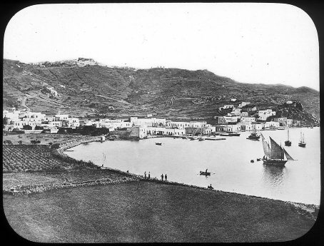 Patmos Bay, Greece Magic Lantern Slide