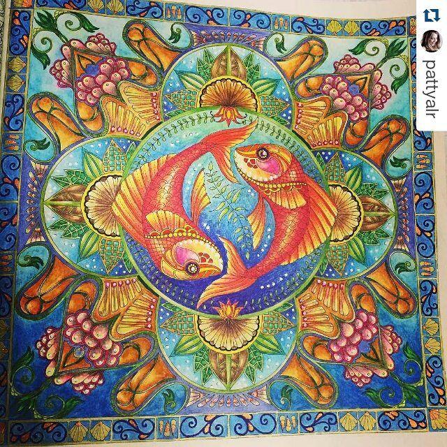 Que maravilhoso! By @pattyalr ・ #johannabasford #lostocean #oceanoperdido #desenhoscolorir