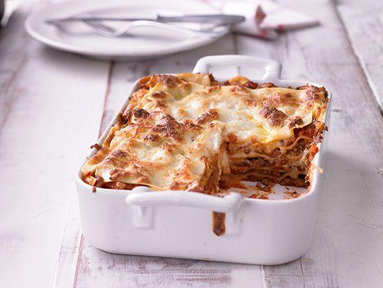 Lasagne wie beim Italiener mit Bolognese